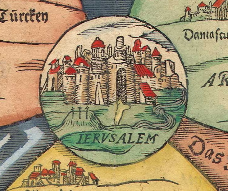 Jerusalem at the very centre of the World, Bunting's Map and ... on us and north america map, world map, africa map, historical map, east and southeast asia map, data visualization map, geographic map, topological map, geographical map, cartography map, tierra del fuego map, history map, political map, present day map,