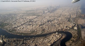 Dubai from the sky, an unforgivable skyline.