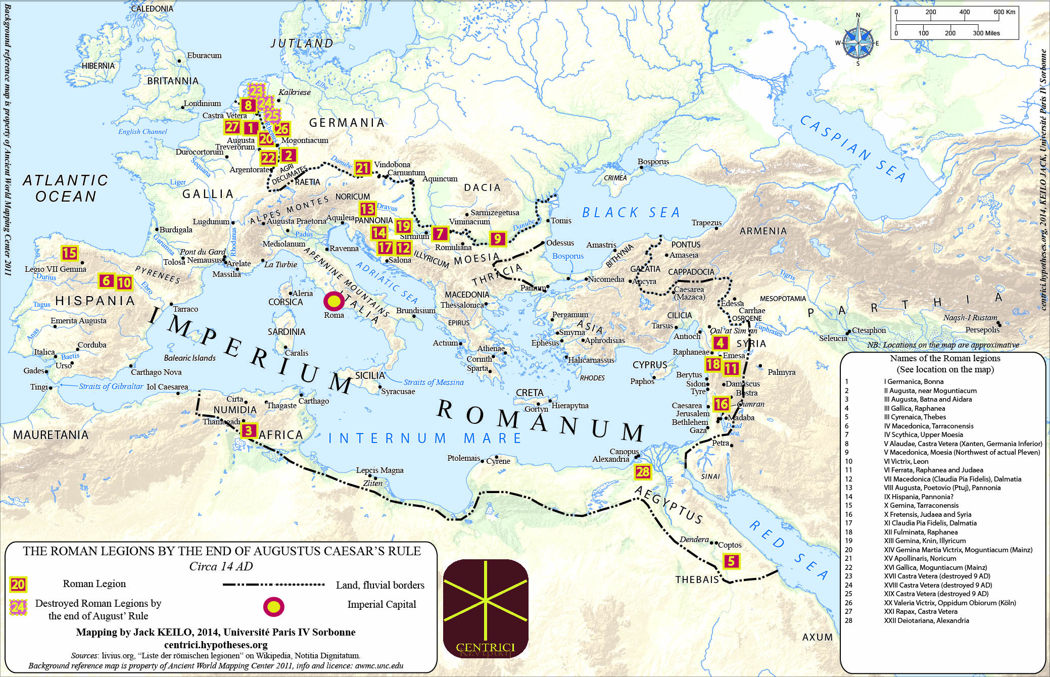 Late Roman Empire Map.Mapping Roman Legions How Limits Tell About The Centre Centres