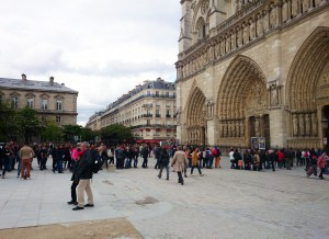 Figure 2: The Parvis de Notre Dame, Paris, the square in which the Point Zéro is situated
