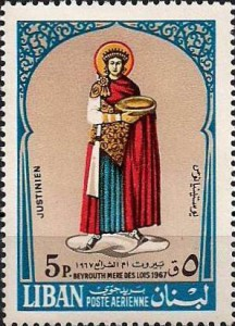FIGURE 5. Commemoration of Emperor Justinian and the Roman Law by a Lebanese stamp, 1968