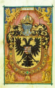 FIGURE 3. Coat of arms of the Holy Roman Empire, from the collection of the Library of Baden, Germany